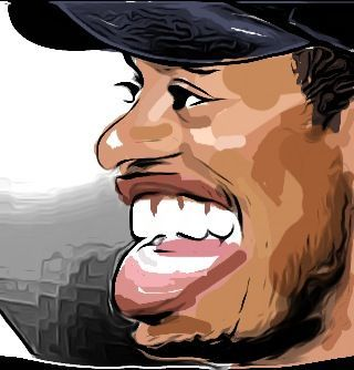 Cartoon: Drawing Tiger Woods with iPhone (medium) by jit tagged drawing,tiger,woods,with,iphone