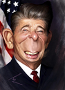 Cartoon: Ronald Reagan (small) by besikdug tagged besik,dugashvili,caricature,besikdug,bestcaricatures,politics,potus,president,ronald,reagan,us,usa