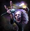 Cartoon: Ronnie James Dio (small) by besikdug tagged besikdug,caricature,georgia,besik,dugashvili