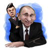 Cartoon: Viktor Yanukovych Vladimer Putin (small) by besikdug tagged vladimer,putin,viktor,yanukovich,besikdug,carikature