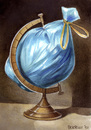 Cartoon: Globe (small) by matteo bertelli tagged globe,trash,world,bertelli