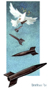 Cartoon: peacekeeping mission (small) by matteo bertelli tagged peace,dove,bertelli,afghanistan,war,peacekeeping