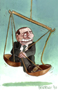 Cartoon: Self made Justice (small) by matteo bertelli tagged berlusconi,selfmade,justice,bertelli