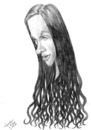 Cartoon: Alanis Morissette (small) by Xavi Caricatura tagged alanis morissette music rock
