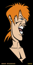 Cartoon: David Bowie - Ziggy Stardust (small) by Xavi Caricatura tagged david,bowie,music,glam,rock