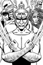 Cartoon: X-men Cover (small) by cesar mascarenhas tagged xmen,wolverine,gambit,storm,juggnaut,magneto,sketchbook,mobile,ipodtouch