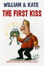 Cartoon: First kiss of William Kate (small) by Roberto Mangosi tagged royal wedding kate william marriage charles queen buckingham palace windsor mountbatten middleton westminster abbey camilla