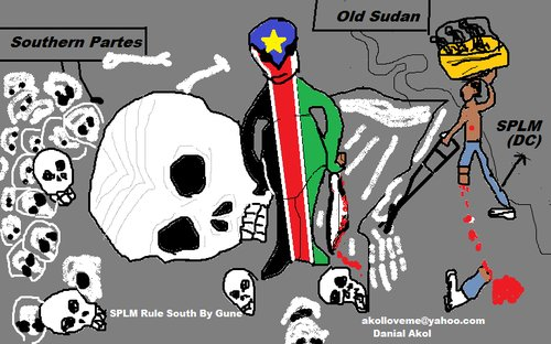 Cartoon: whay they try to kill me? (medium) by akoldit tagged south,sudan,political,problems