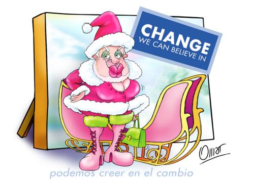 Cartoon: Change (medium) by riva tagged navidad,noel,clauss