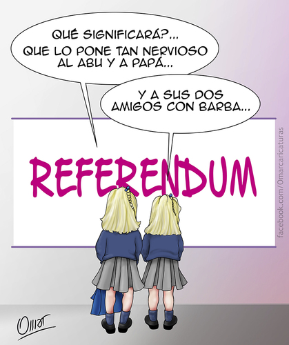 Cartoon: curiosidad (medium) by riva tagged juan,rey,infantas,carlos,felipe,referendum