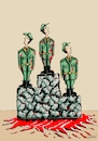Cartoon: war winners (small) by Recep ÖZCAN tagged war,peace,wine,rich,poor,feelings,toughts,humanity,comedy