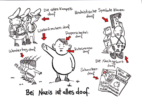 Cartoon: DEPPWORLD (medium) by chronicartoons tagged sheepworld,hitler,nazis,idioten,landser,göbbels,göring,himmler,cartoon,deppworld
