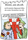 Cartoon: 26. August (small) by chronicartoons tagged sigmund,jähn,ddr,raumfahrt,rakete,kosmonaut