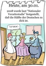 Cartoon: 30. Januar (small) by chronicartoons tagged dicke,deutsche,fett,mc,donalds,supersize,me,übergewicht,cartoon