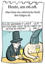 Cartoon: 6. August (small) by chronicartoons tagged elektrischer stuhl