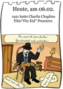 Cartoon: 6. Februar (small) by chronicartoons tagged charlie,chaplin,the,kid,stummfilm,cartoon