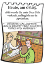 Cartoon: 8. Mai (small) by chronicartoons tagged coce,coca,cola,softdrink,apotheke,cartoon