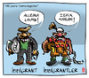 Cartoon: Immigrantler (small) by zenundsenf tagged migration,einwanderung,50,jahre,bayern,türken,turks,bad,mood