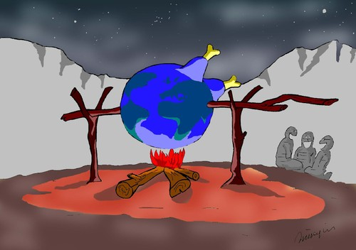 Cartoon: my old Global Warming Collect (medium) by huseyinalparslan tagged global,warming,nature,natura