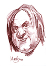 Cartoon: Gerard Depardieu (small) by Martynas Juchnevicius tagged gerard,depardieu,actor,movies,french,sketch,pencil,drawing
