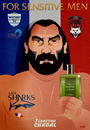 Cartoon: sebastien chabal (small) by Martynas Juchnevicius tagged perfume,club,sport,sebastien,chabal,rugby,france,sportsman,sensitive