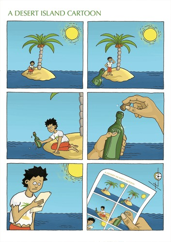 Cartoon: A desert island cartoon (medium) by badham tagged badham,cartoon,island,desert