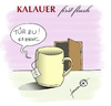 Cartoon: Kalauer first flush (small) by badham tagged tee tasse ziehen teebeutel scharzer schwarztee kalauer äh