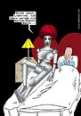 Cartoon: Lovebot (small) by Habomiro tagged habomiro bett schlafzimmer roboter liebesroboter sex migräne system update