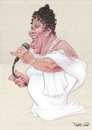 Cartoon: Aretha Franklin (small) by Ricardo Soares tagged jazz,music