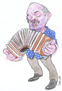 Cartoon: Astor Piazzolla (small) by Ricardo Soares tagged jazz,music
