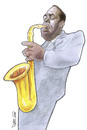 Cartoon: Charlie Parker (small) by Ricardo Soares tagged jazz,music