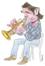 Cartoon: Chet Baker. (small) by Ricardo Soares tagged jazz,music