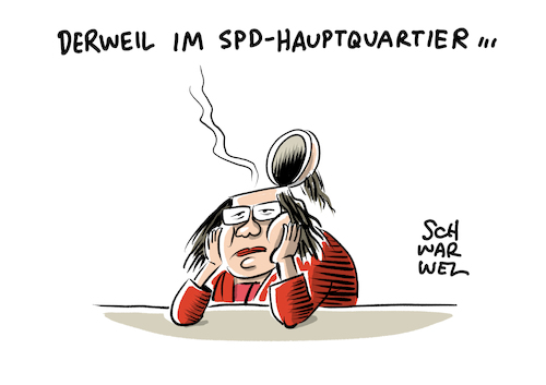 Cartoon: SPD Nahles (medium) by Schwarwel tagged spd,andrea,nahles,partei,parteien,deutshcland,politik,politiker,politikerin,parteivorsitz,parteivorsitzende,neuausrichtung,steinbrück,rücktritt,amtsniederlegung,sigmar,gabriel,cartoon,karikatur,schwarwel,spd,andrea,nahles,partei,parteien,deutshcland,politik,politiker,politikerin,parteivorsitz,parteivorsitzende,neuausrichtung,steinbrück,rücktritt,amtsniederlegung,sigmar,gabriel,cartoon,karikatur,schwarwel