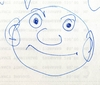 Cartoon: Der blaue Stift (small) by manfredw tagged scribble