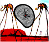 Cartoon: holy dali 3 (small) by edda von sinnen tagged salvador dali bicycles master of surealism surealismus fahrräder heilig cartoon hommage composing edda von sinnen
