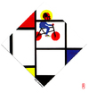 Cartoon: holy mondrian (small) by edda von sinnen tagged art,caricature,cartoon,composing,edda,von,sinnen,gerrit,thomas,rietveld,great,dead,artists,on,bicycles,homage,hommage,karikatur,kunst,paintings,piet,mondrian,zensenf,zenundsenf