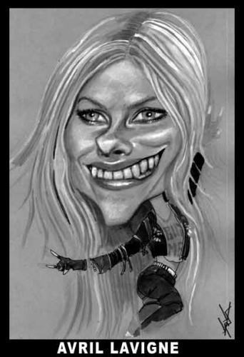 Cartoon: AVRIL LAVIGNE CARICATURE (medium) by KARKA tagged avril,lavigne