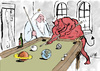 Cartoon: Billard (small) by bob tagged billiard,gott,teufel,bob,hack