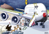 Cartoon: A380 Airbus (small) by toonpool com tagged 380 lufthansa airbus manjul