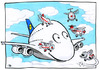 Cartoon: Airbus A380 Contest (small) by toonpool com tagged airbus380 airbus lufthansa contest plane flugzeug
