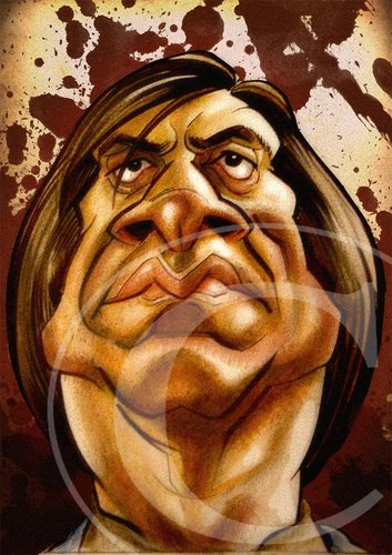 Cartoon: Javier Bardem Caricature (medium) by nolanium tagged javier,bardem,caricature,nolanium,no,country,for,old,men,nolan,harris