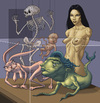 Cartoon: Akiko Visits The Natural History (small) by kernunnos tagged what,the,fuck,is,deal,with,title