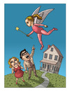 Cartoon: Escape (small) by kernunnos tagged parents,suck,kids,can,drain,the,life,right,out,of,you