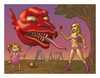 Cartoon: The Red balloon (small) by kernunnos tagged spad,widdershins,gobbling,bruxomania,poop