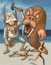 Cartoon: The Walrus and the Carpenter (small) by kernunnos tagged cloth,buttons,turd,bingler,fingstoppered,spume