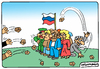 Cartoon: Russian oppositionist (small) by Igor Kolgarev tagged russia,opposition,sanction,democracy