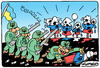 Cartoon: Ukrainian targets (small) by Igor Kolgarev tagged war,ukraine,donetsk,lugansk,donbass,novorossia,nazi,people,target,weapon