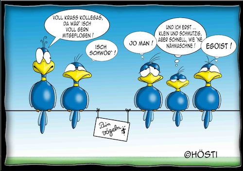 Cartoon: Höstis Batty Birds (medium) by Hösti tagged hösti,cartoons,hoesti,stephan,höstermann