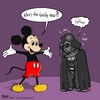 Cartoon: mickey and darth (small) by raim tagged mickey,mouse,darth,vader,disney