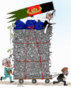 Cartoon: Afghanistan and EU Deal (small) by Shahid Atiq tagged afghanistan,kabul,syria,iran,switzerland,schweiz,usa,france,football,safi,cartooneu,uk,safe,atiq,fara,shahid,nice